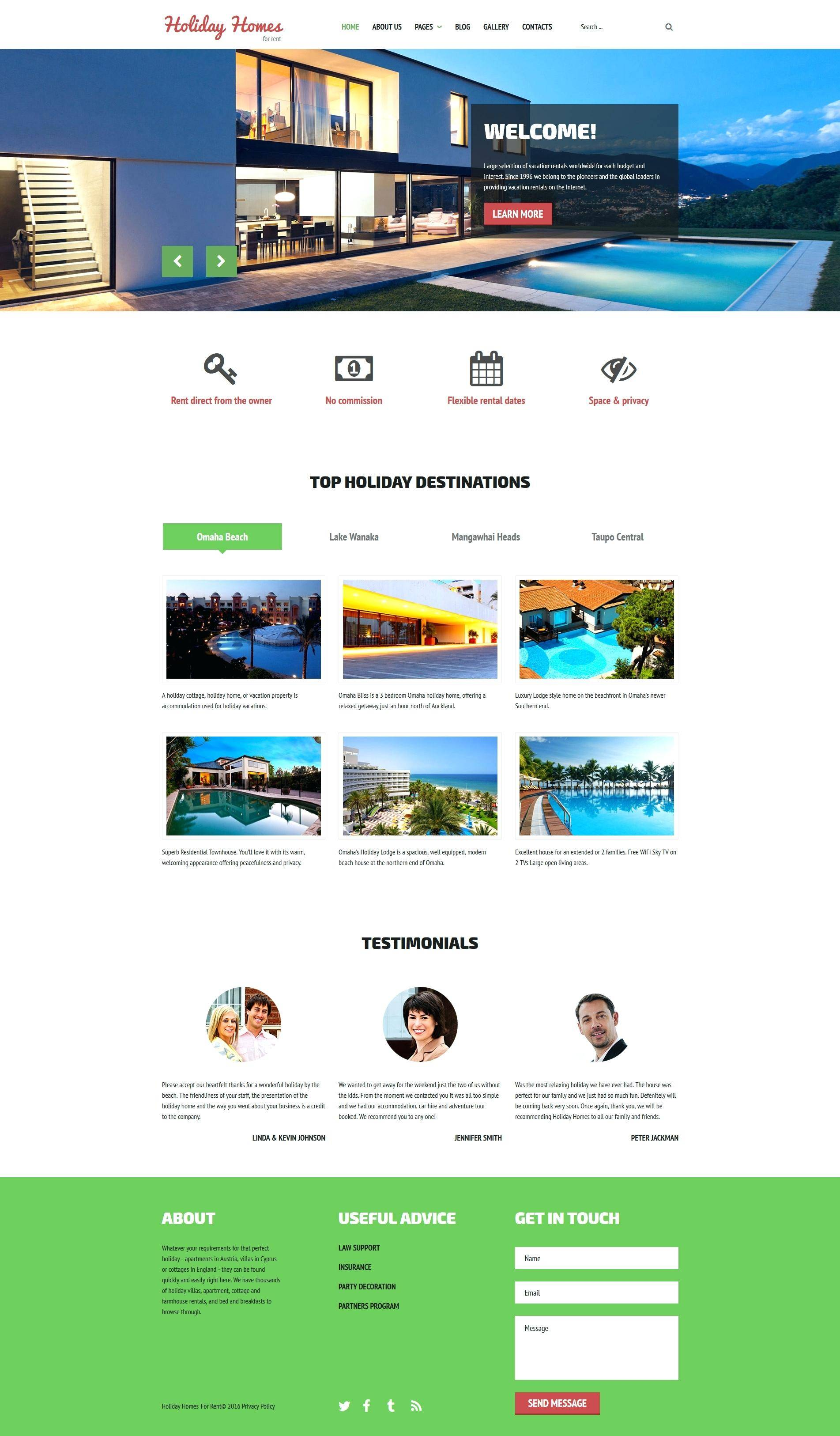 Real Estate Agency Joomla Template Free Download