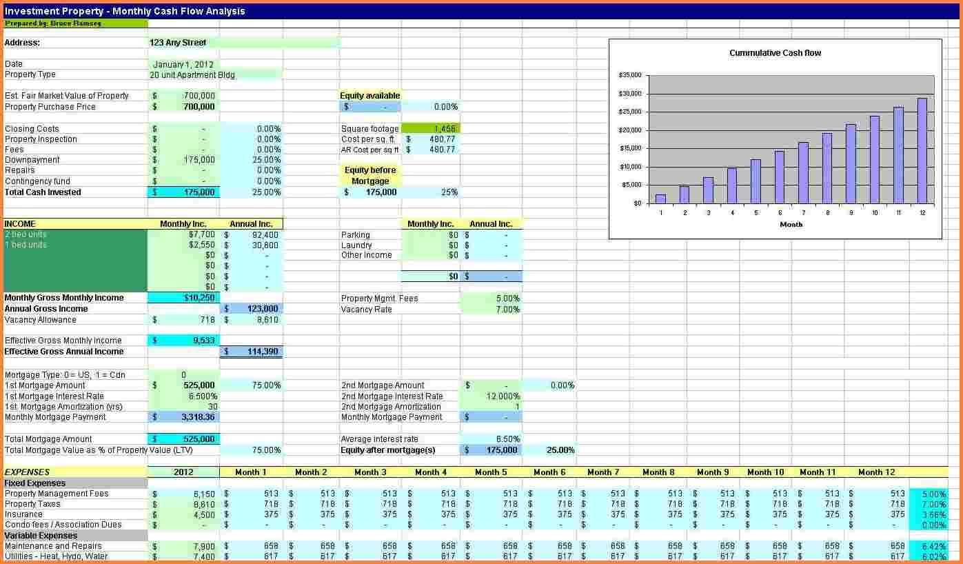 Real Estate Agent Spreadsheet Template