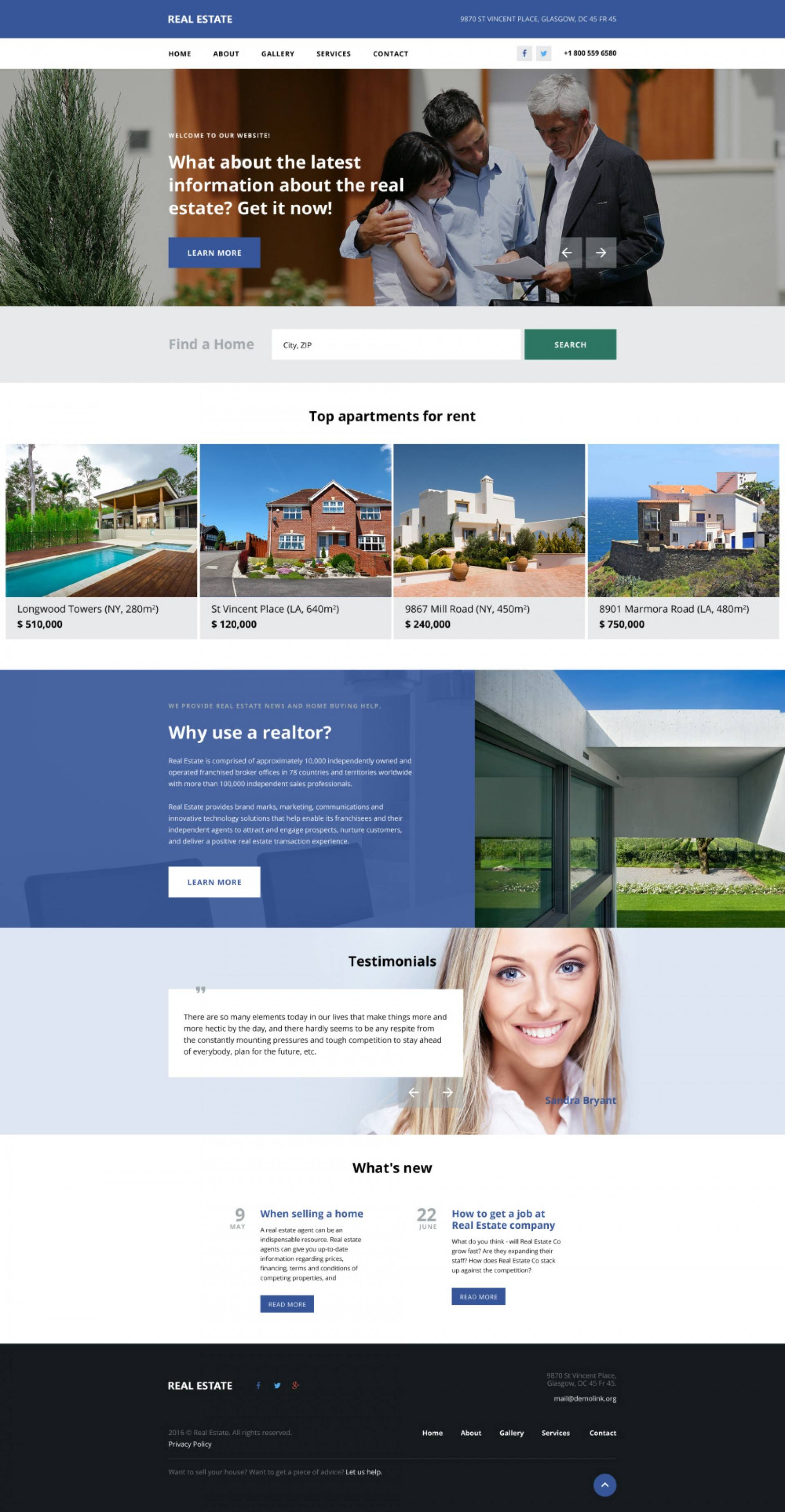 Real Estate Agent Template WordPress