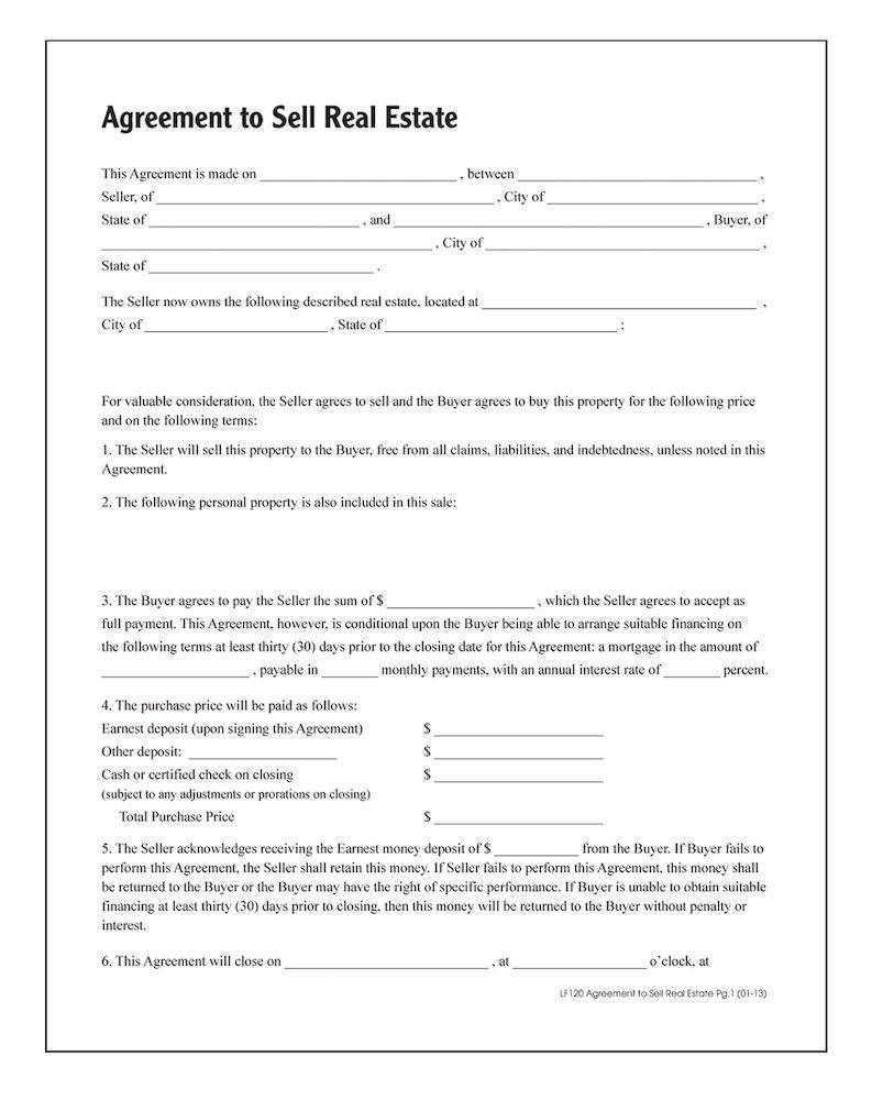 Real Estate Agreement Forms