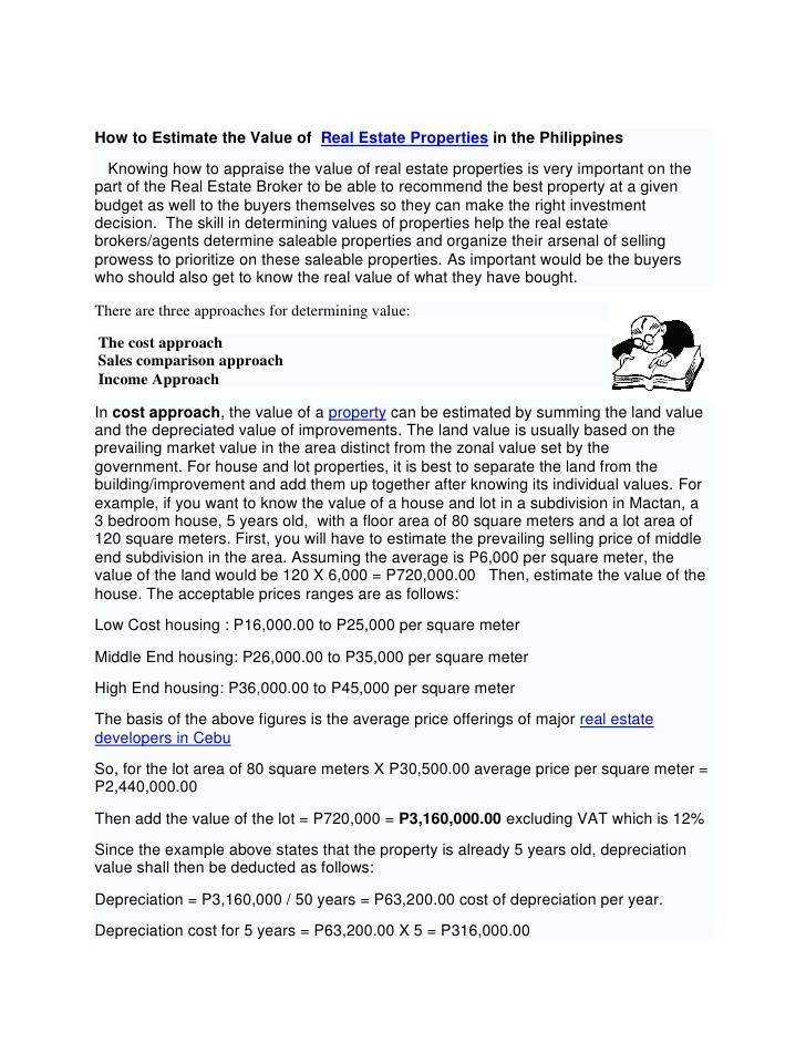 Real Estate Appraisal Report Example Philippines