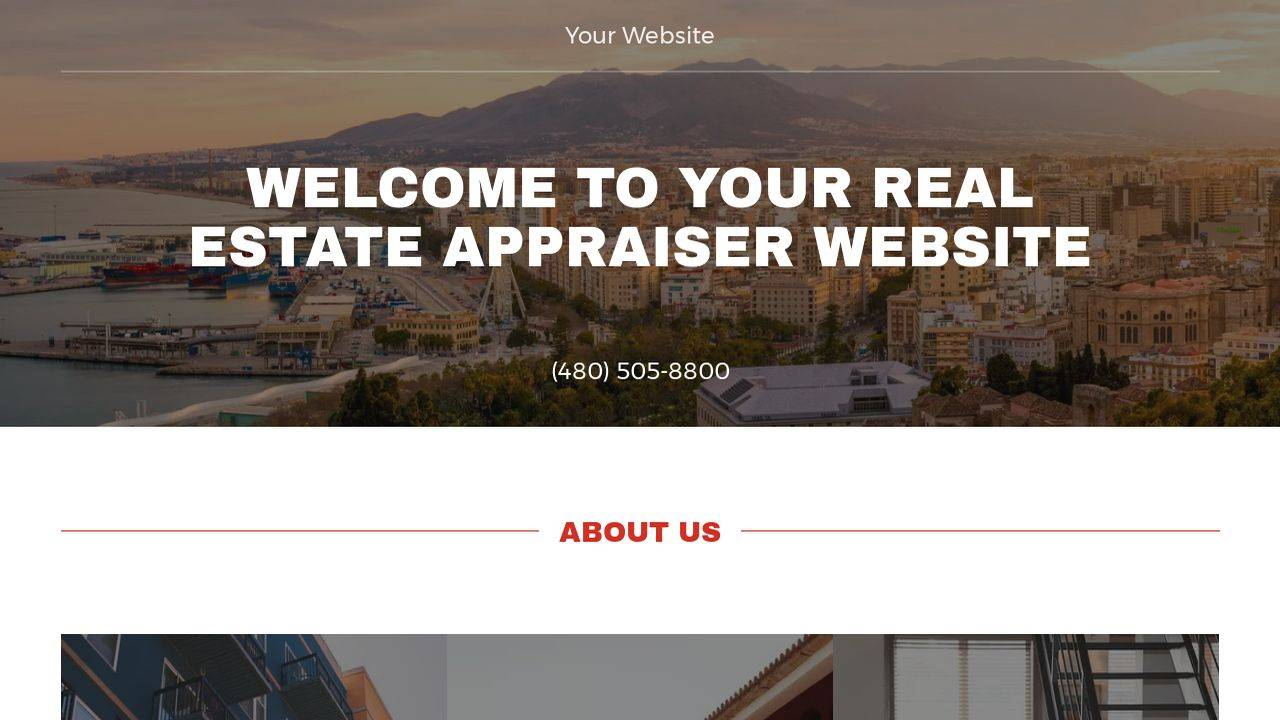 Real Estate Appraiser Website Templates