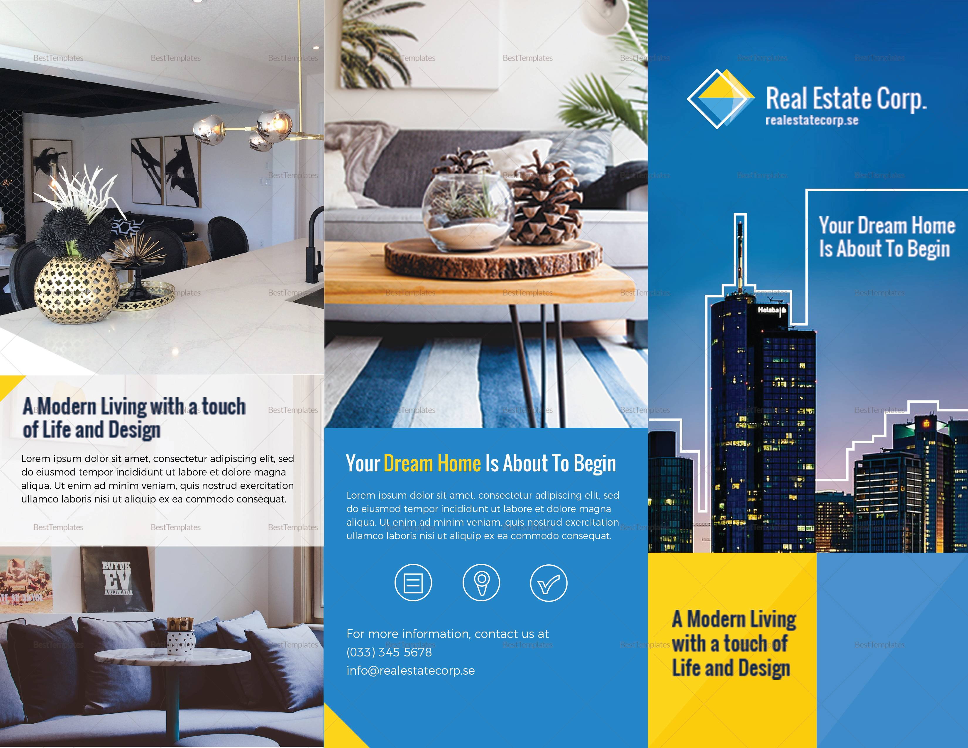 Real Estate Brochure Template Illustrator