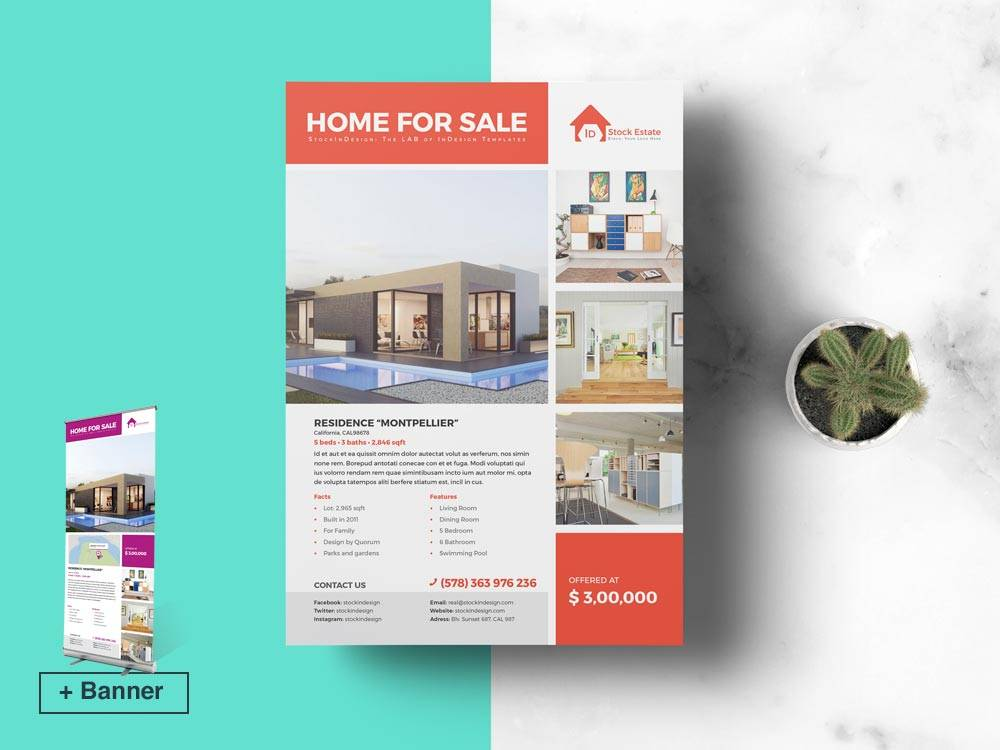 Real Estate Brochure Template Indesign