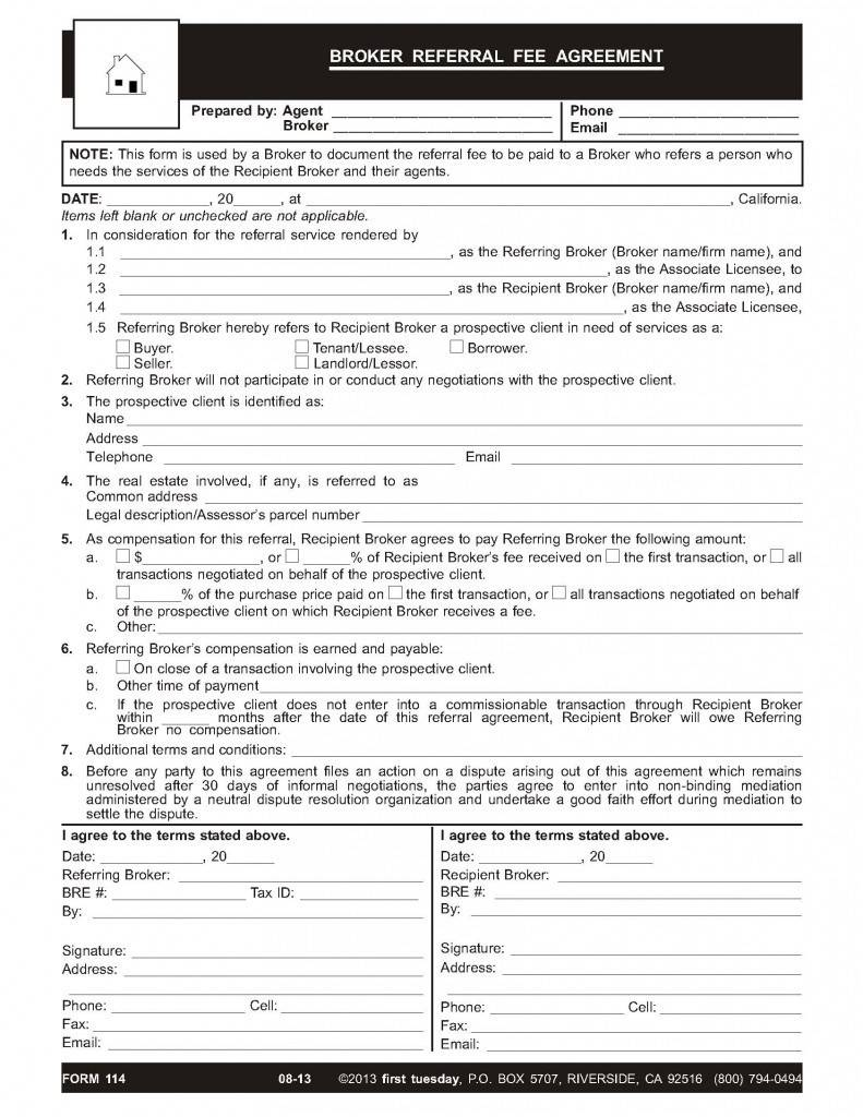 Real Estate Broker Agreement Form