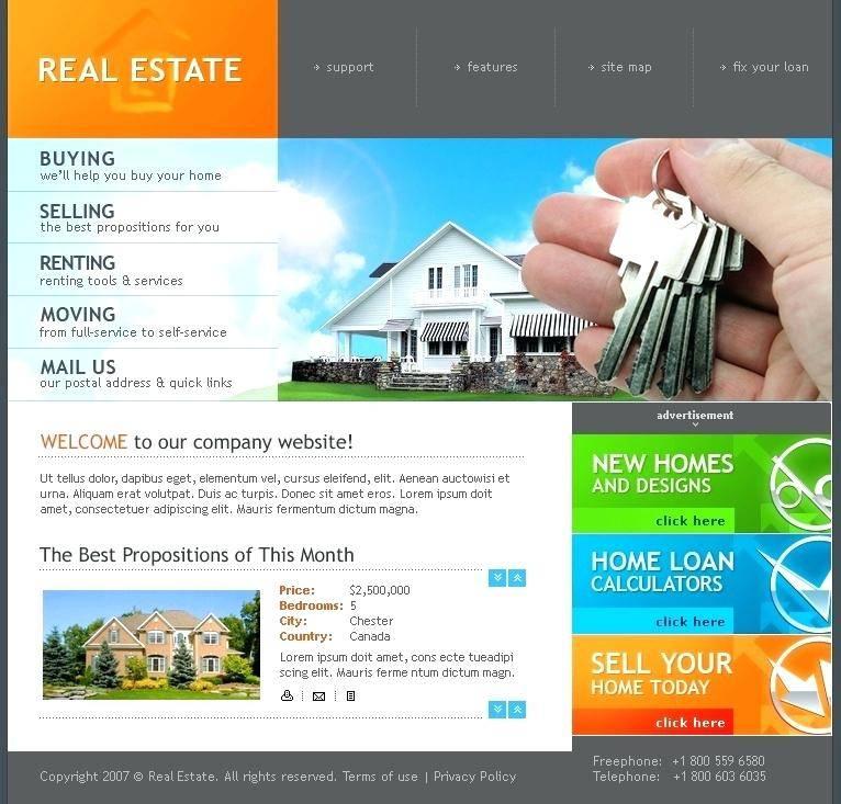 Real Estate Classifieds Website Template