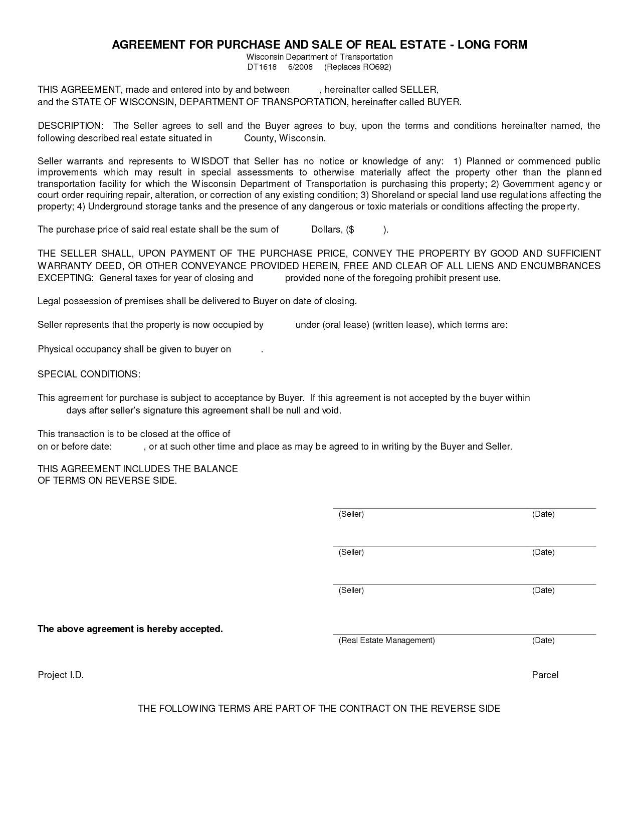 Real Estate Contract Forms California
