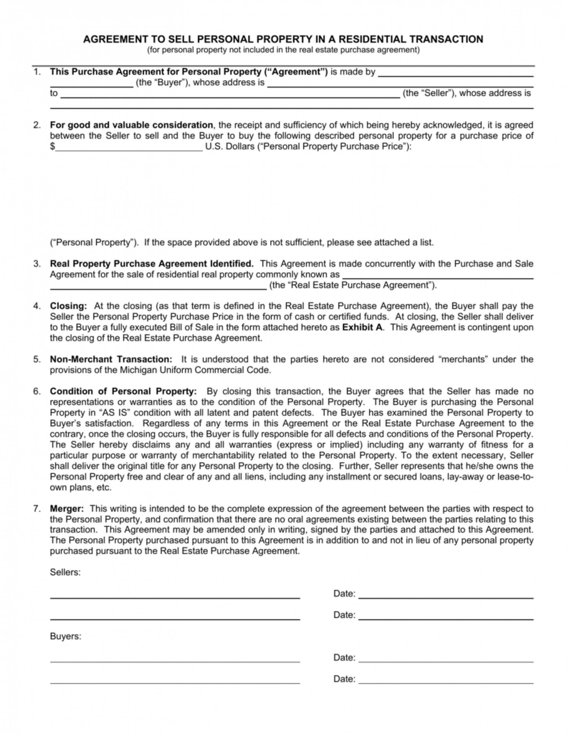 Real Estate Contract Template Ohio