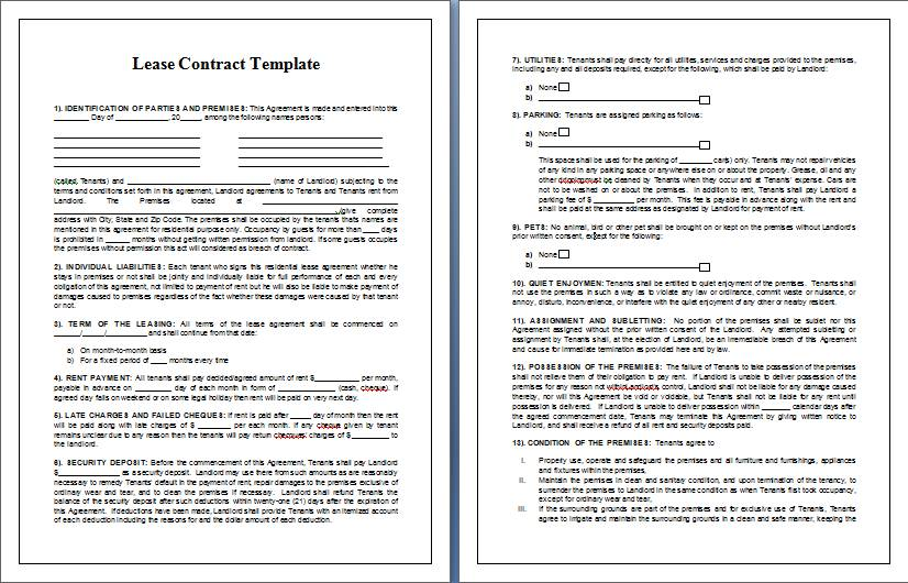 Real Estate Contracts Templates