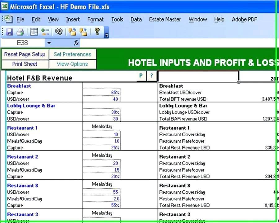 Real Estate Feasibility Study Template Excel
