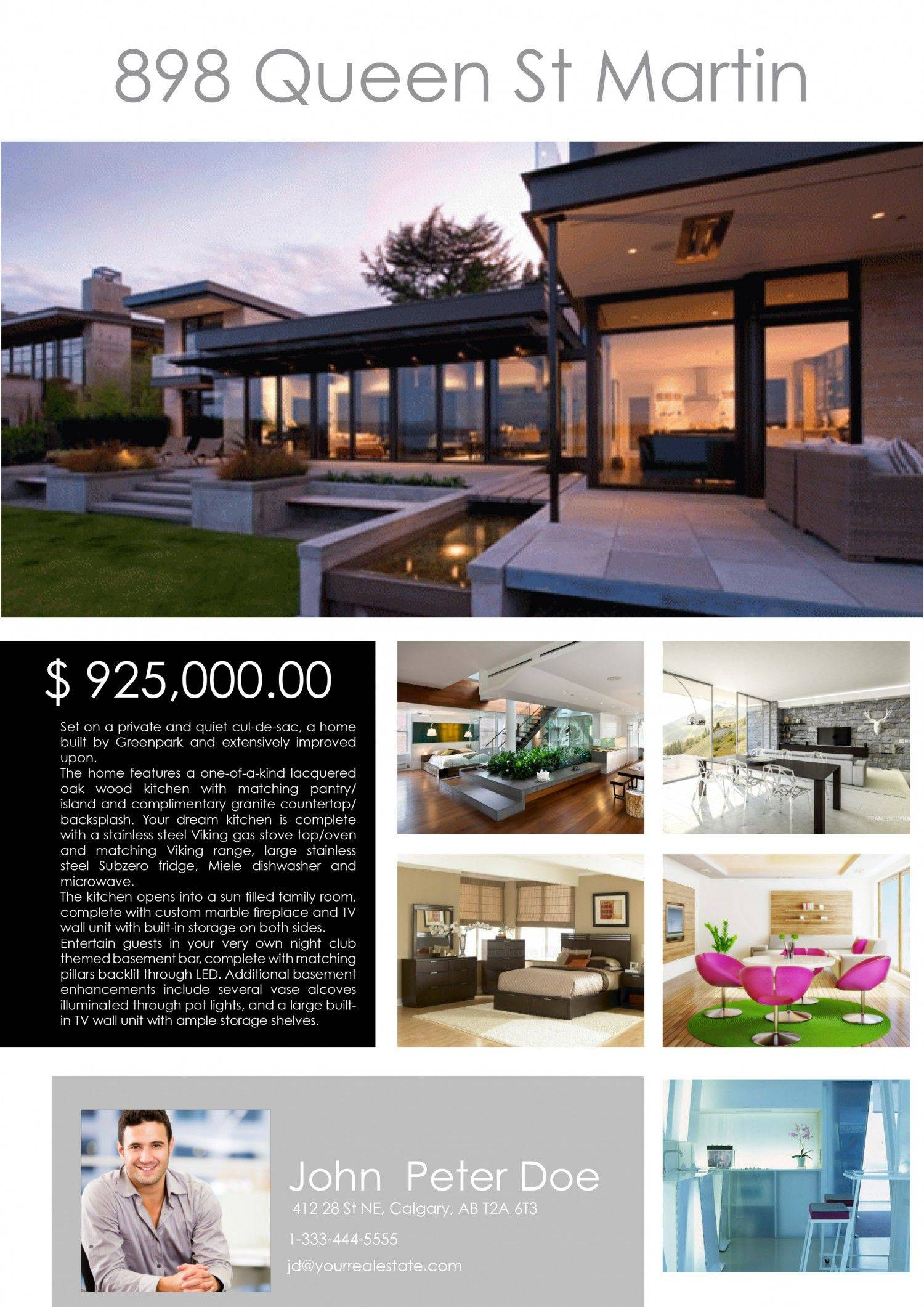 Real Estate Feature Sheet Samples