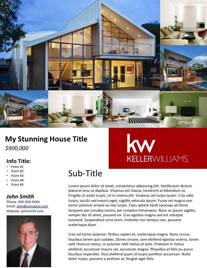 Real Estate Feature Sheet Template Publisher