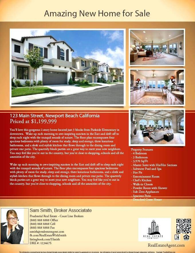 Real Estate Flyer Template Free Pdf Download