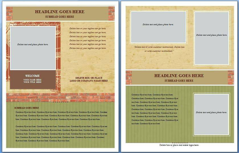 Real Estate Flyer Template Microsoft Word