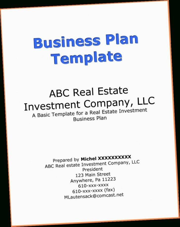Real Estate Investing Business Plan Samples