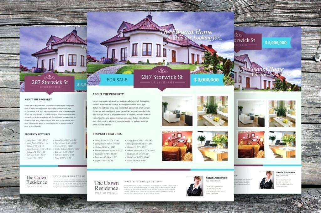 Real Estate Listing Template For Flyers