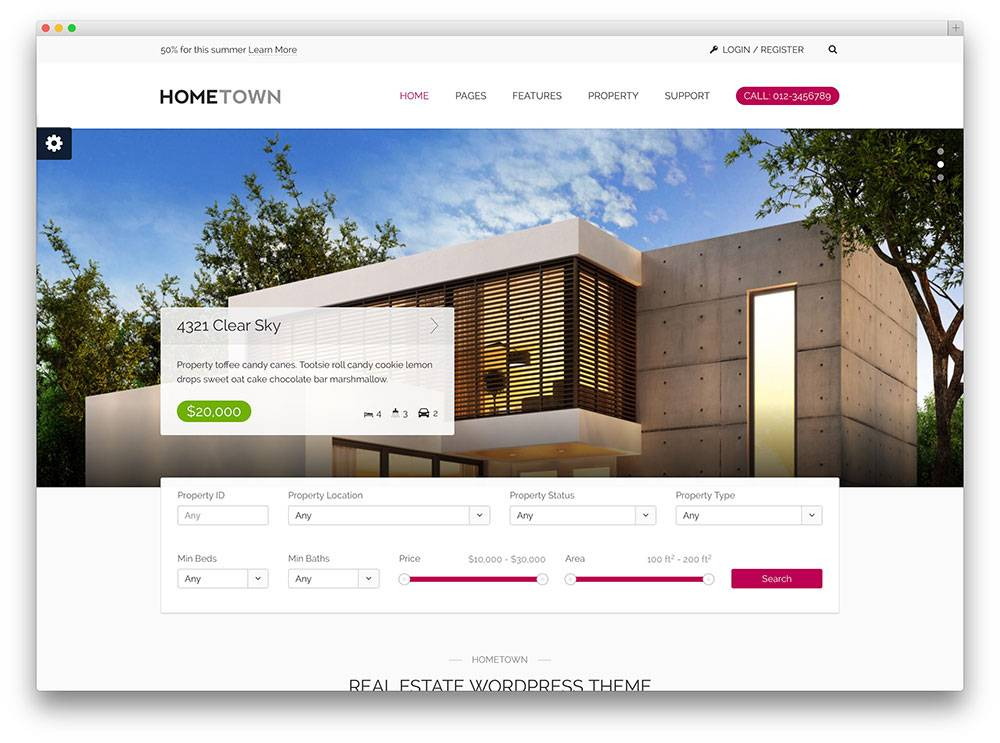 Real Estate Listing Template WordPress