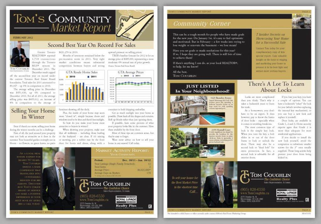 Real Estate Newsletters Templates