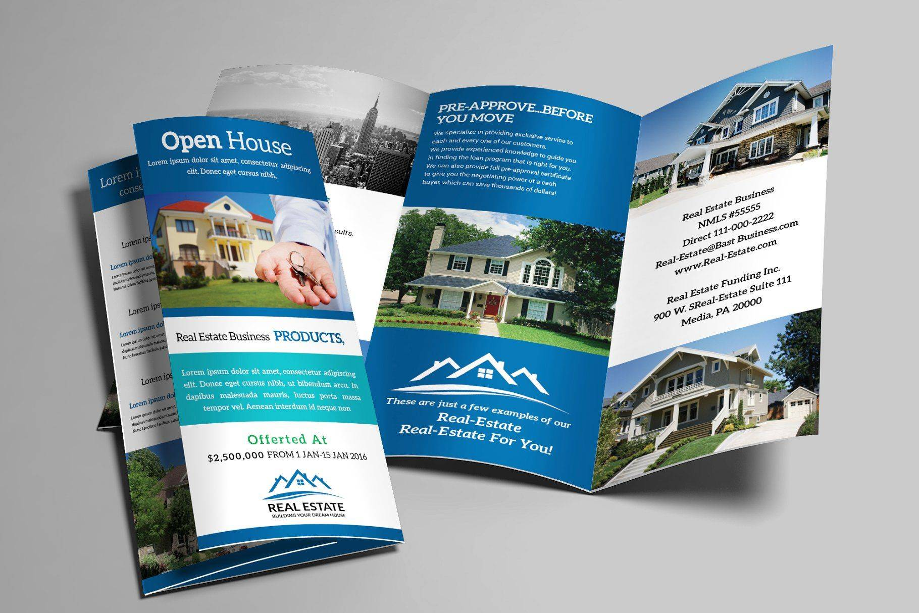 Real Estate Photography Brochure Templates