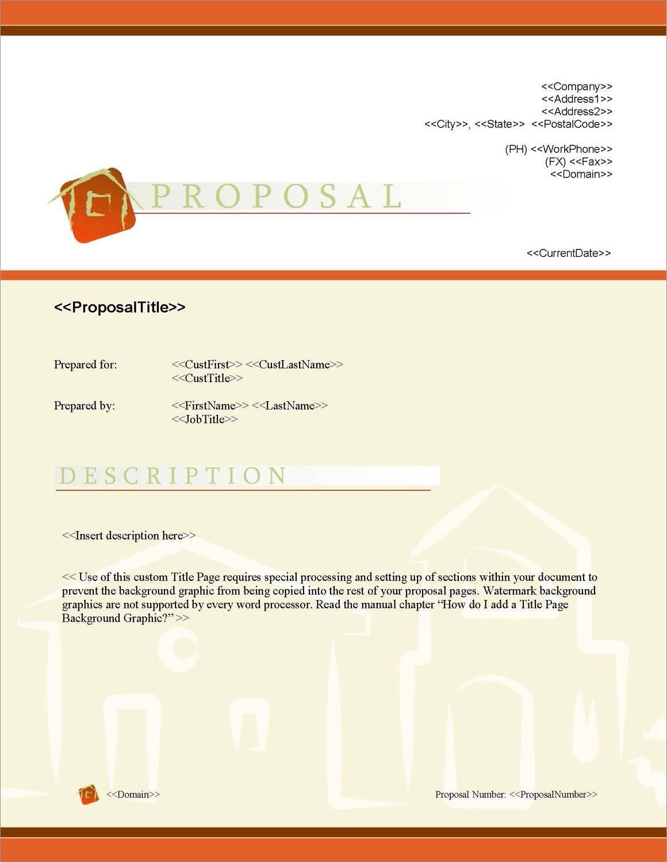 Real Estate Proposal Samples