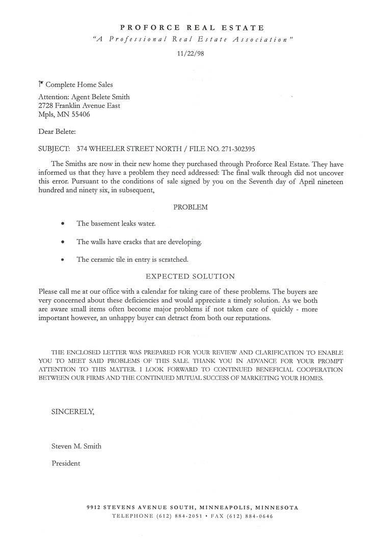 Real Estate Prospecting Letter Template