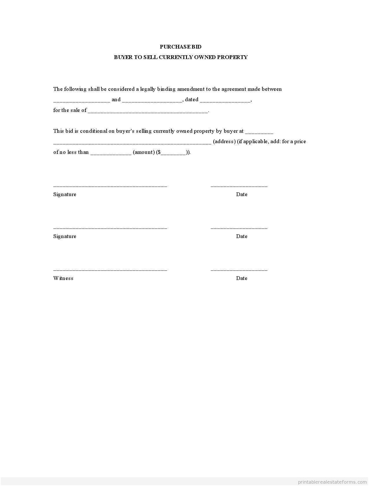 Real Estate Purchase Contract Form Alberta