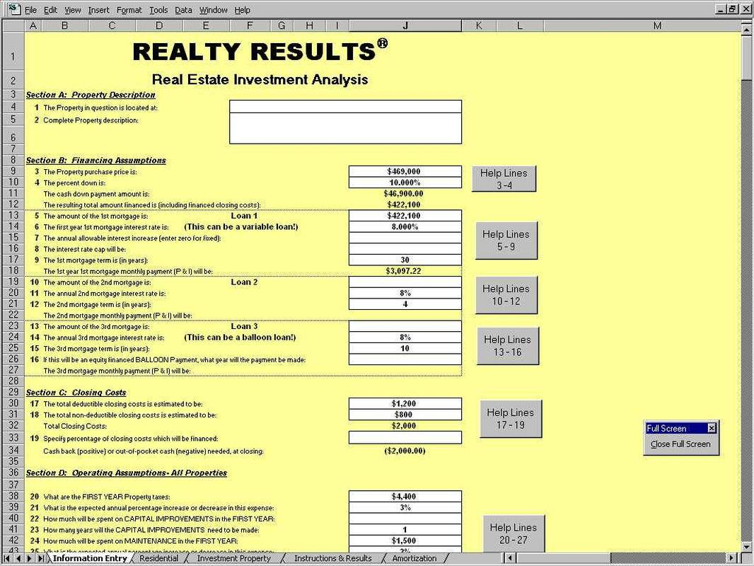 Real Estate Rental Excel Template