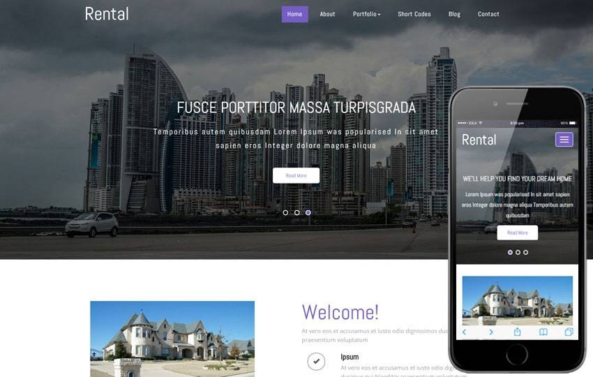 Real Estate Rental Website Template