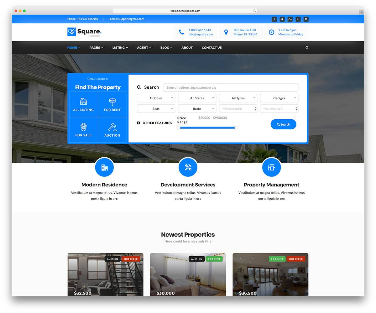 Real Estate Templates WordPress