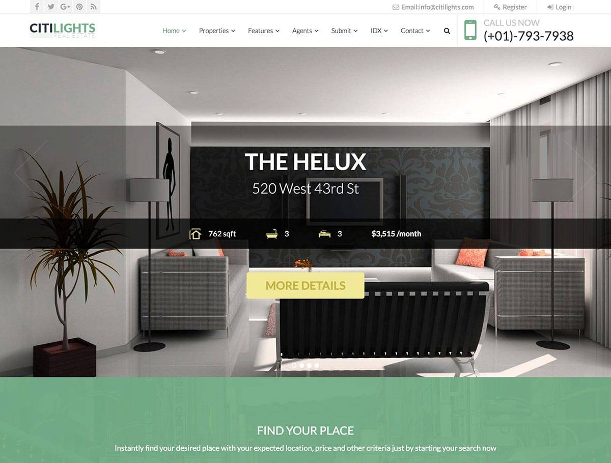 Real Estate Theme WordPress 2017
