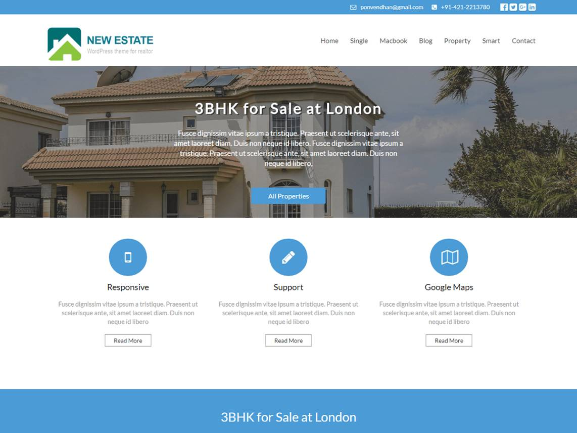 Real Estate Website Template WordPress Free