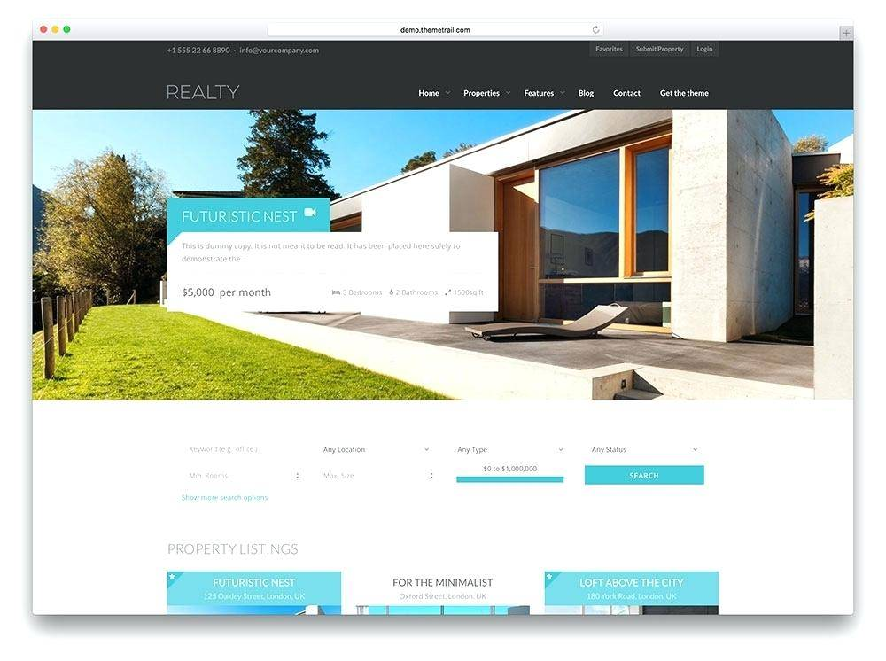 Real Estate Website Templates Free Download Html5 With Css3