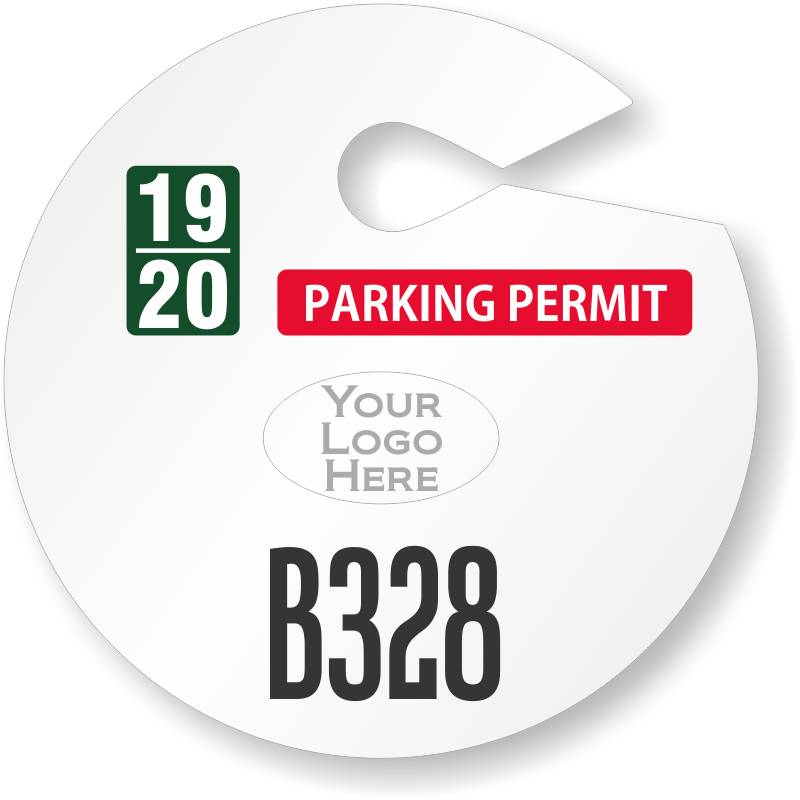 Rear View Mirror Hang Tag Template