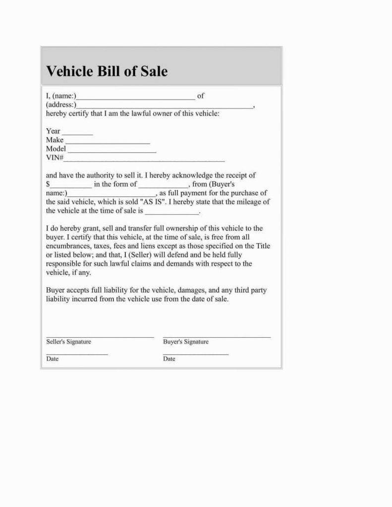 Receipt Template For Car Sale Australia