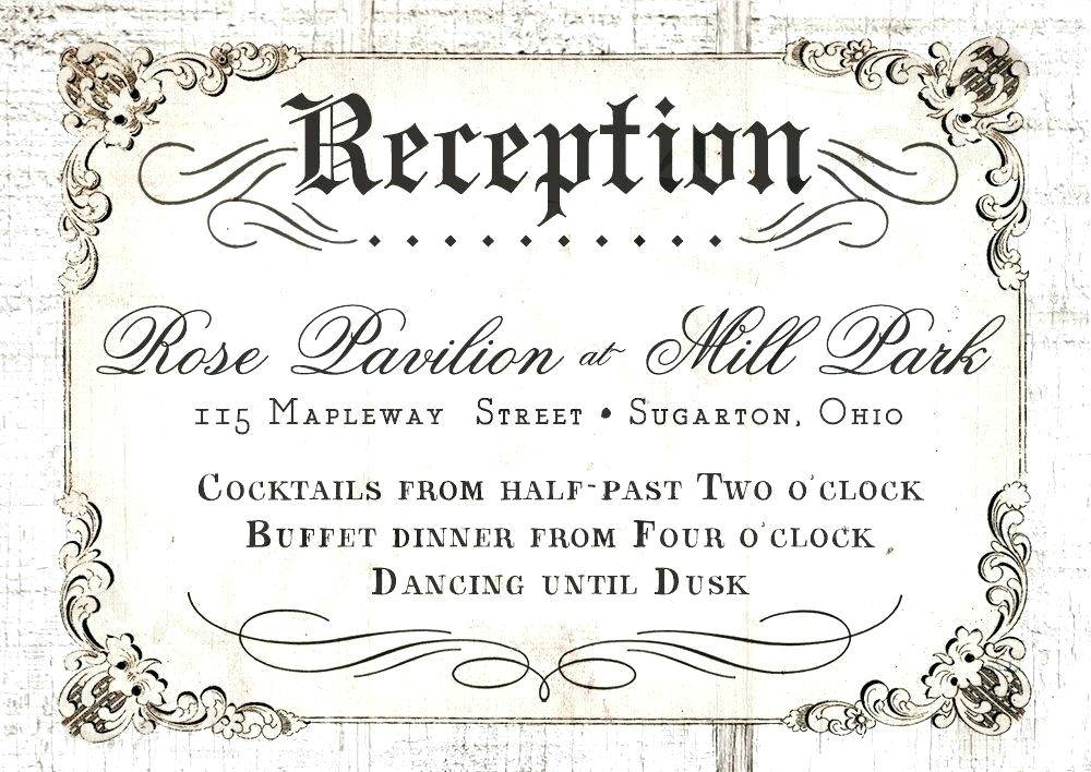 Reception Invitation Card Templates