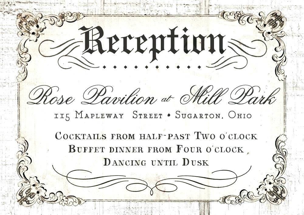Reception Invitation Card Templates