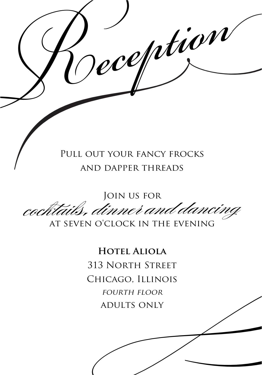 Reception Invitation Samples