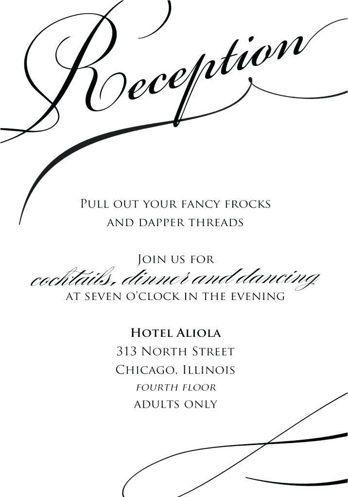 Reception Invitation Template Online