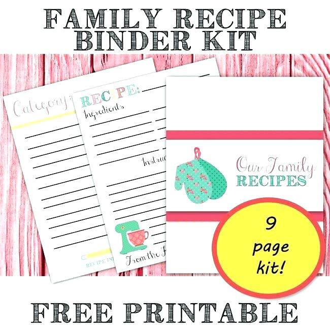 Recipe Cookbook Templates Free Download