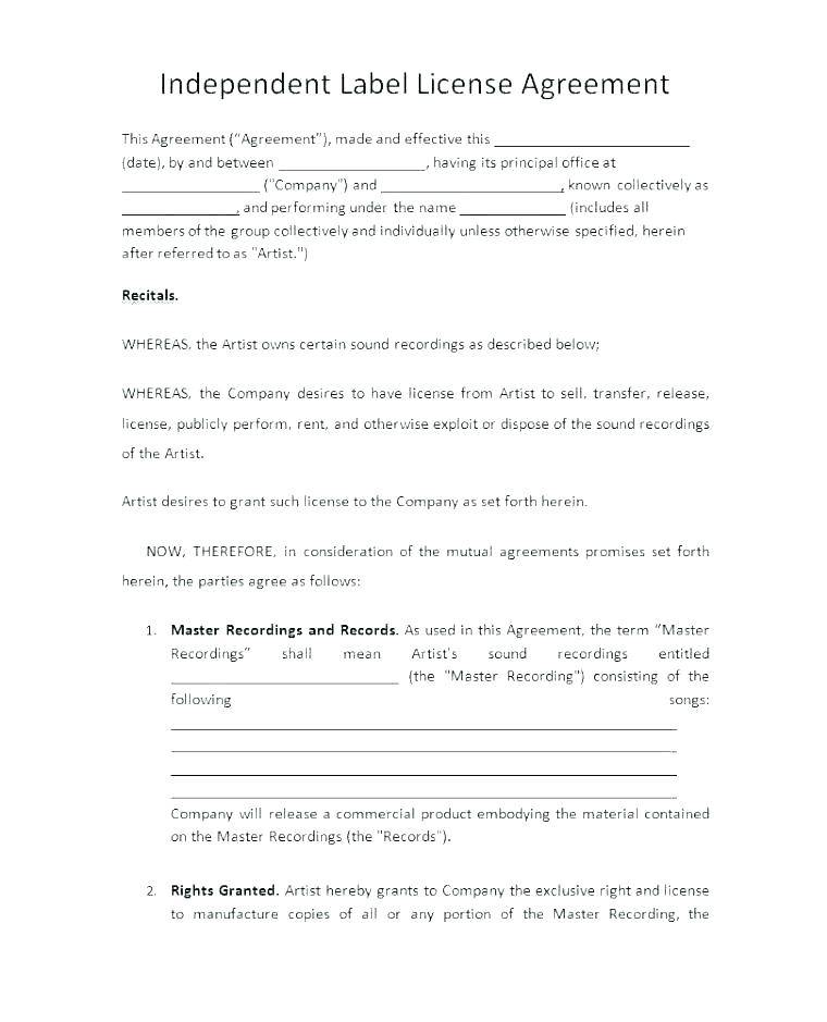 Record Company Contracts Samples
