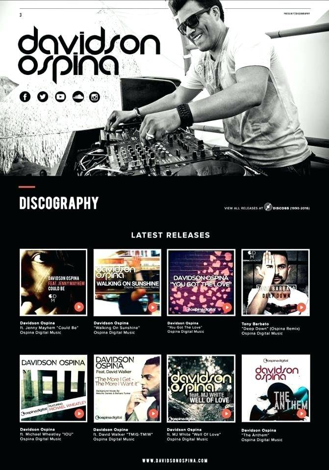 Recording Artist Press Kit Template