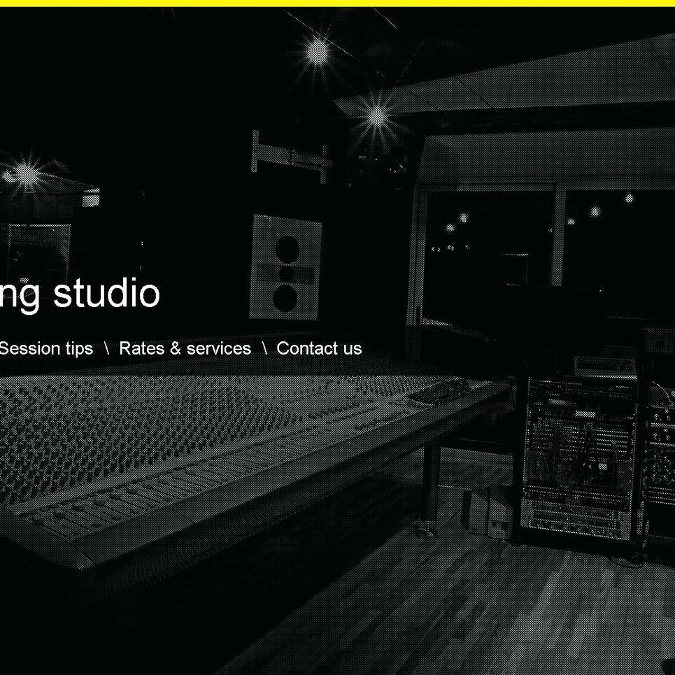 Recording Studio Responsive Website Template Free Download