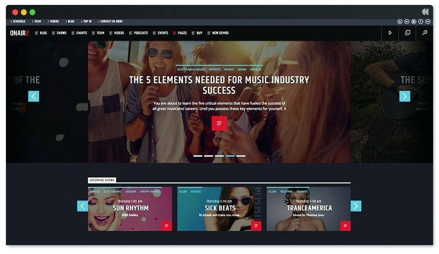 Recording Studio Website Template WordPress