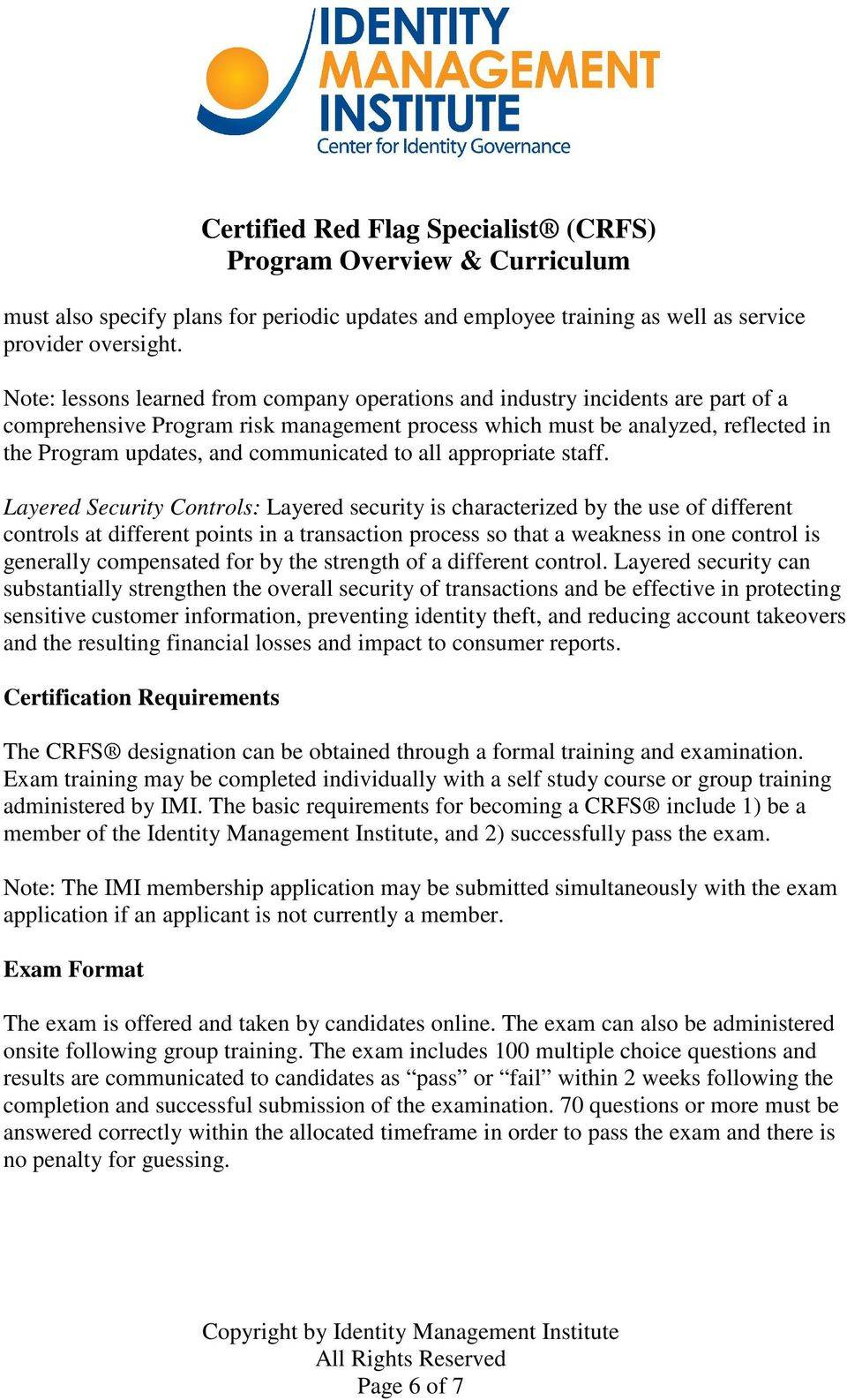 Red Flag Identity Theft Prevention Program Template