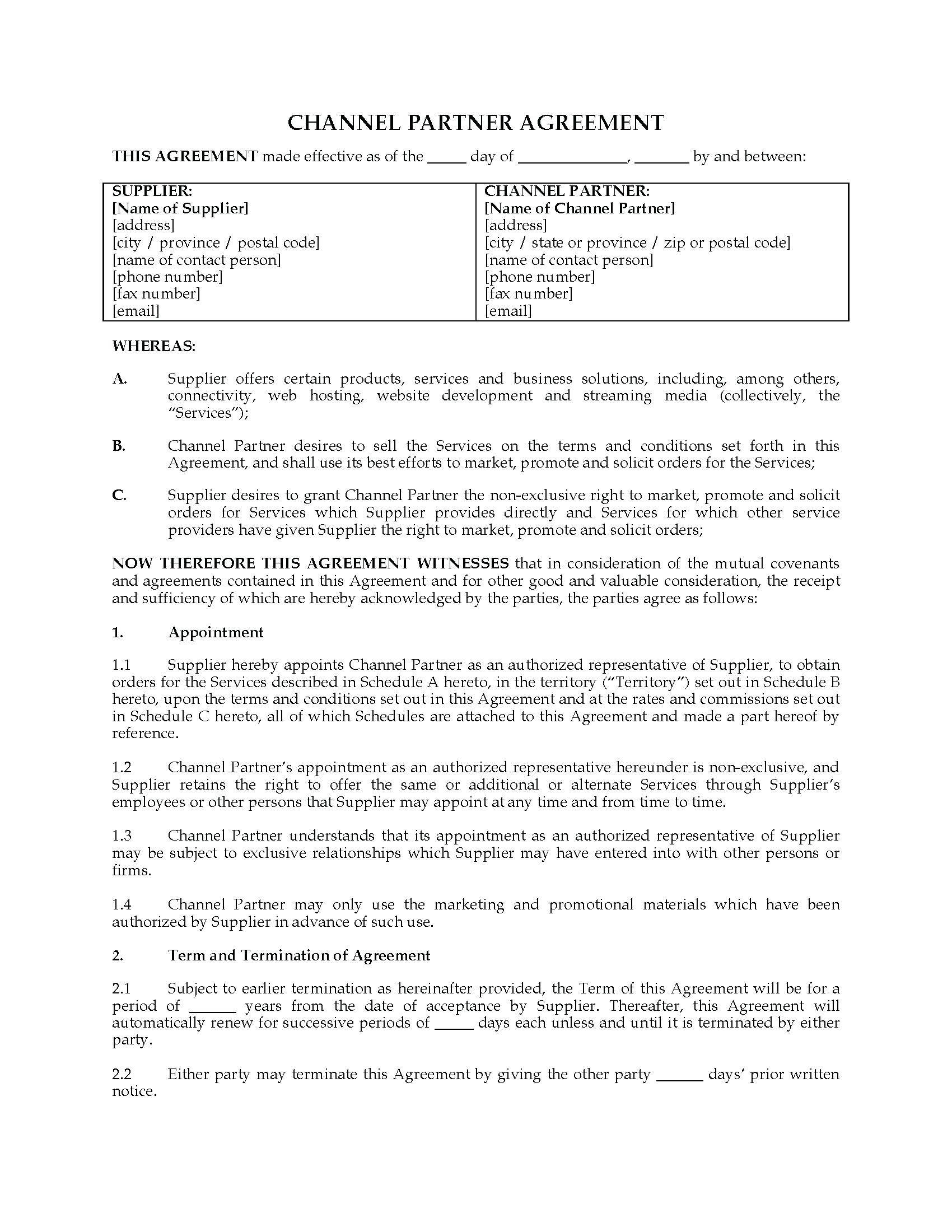 Referral Contract Example