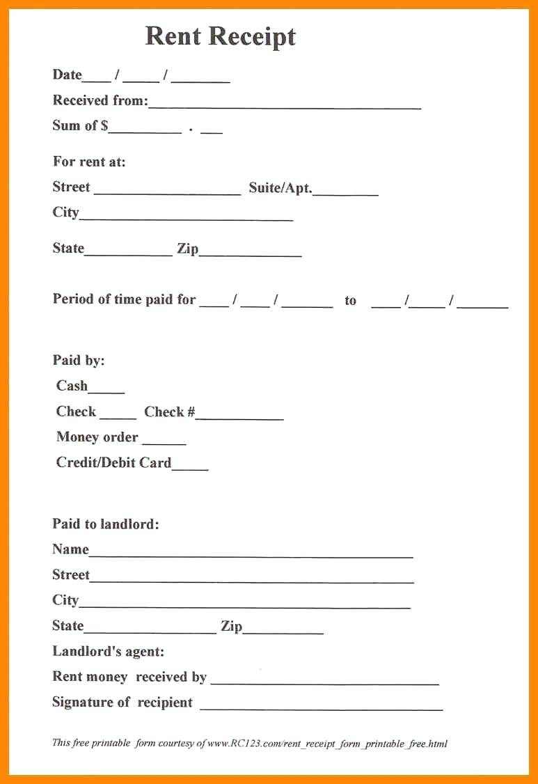 Reimbursement Receipt Template