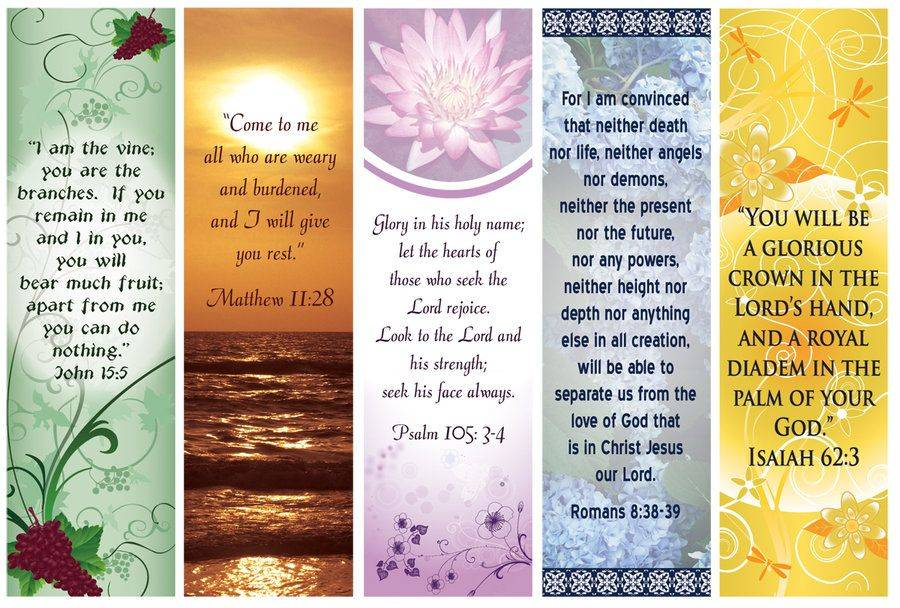 Religious Bookmarks Templates