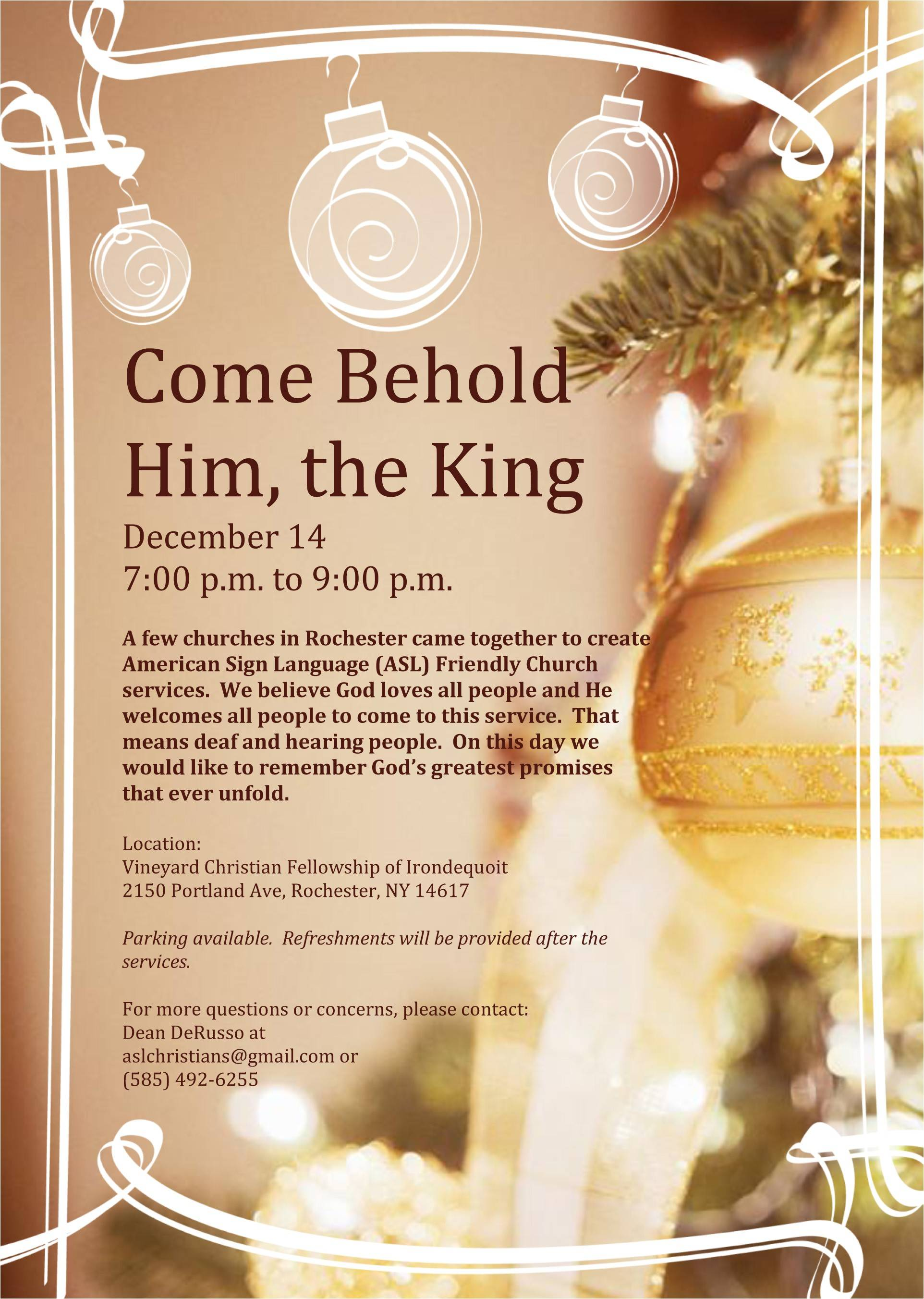 Religious Christmas Invitation Templates