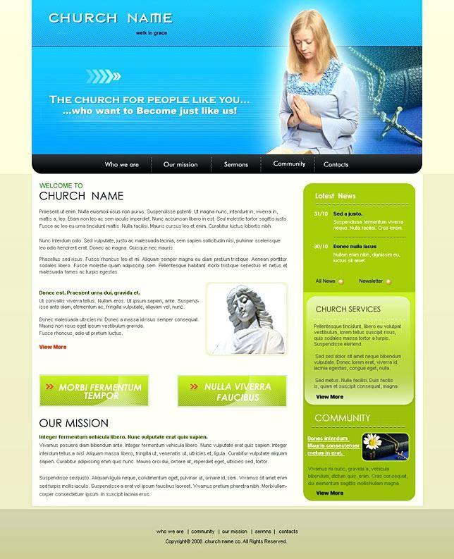Religious Web Templates Free Download