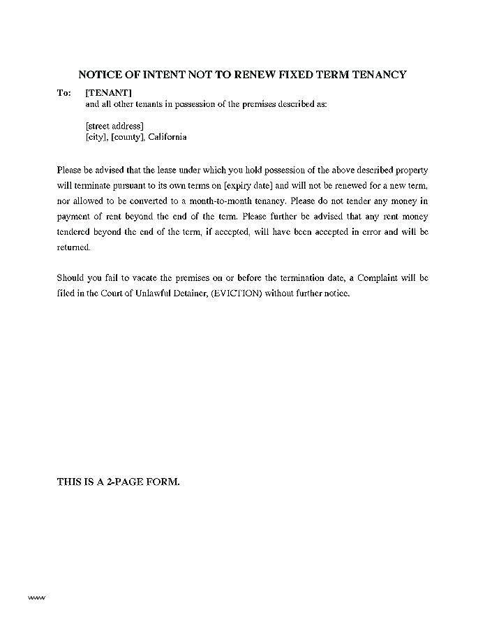 Renewal Tenancy Agreement Form